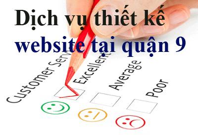 Dịch vụ thiết kế website tại quận 9